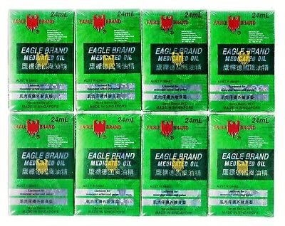 8 X Eagle Brand Medicated Oil 24 ml Liniment For Muscular Aches and Pains