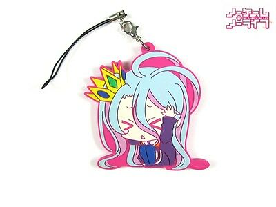 Hot Japan Anime No Game No Life Shiro Rubber Strap Keychain Pendant Gift