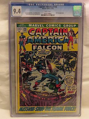 Captain America #146 CGC 9.4 - Nick Fury appearance - Scarce high grade