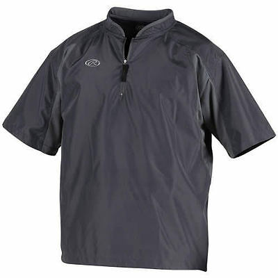 New!  Rawlings Batting Cage Jacket Grey Adult Large Toccj-Gr-90