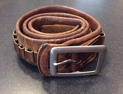 Antique Money Cartridge Belt Turn Of The Century Heavy Duty