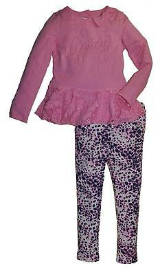 Juicy Couture Girls Pink Laced Tunic 2pc Legging Set Size 6