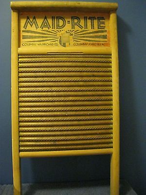 Maid -Rite wash board Antique