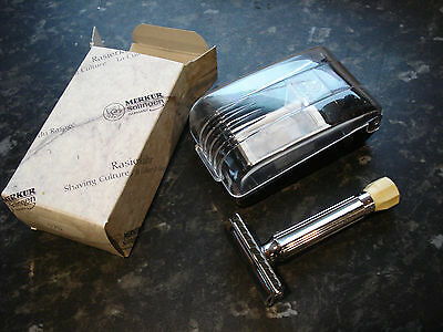 Merkur Progress 500 Safety Razor Full Set-Travel Case Blades And Box Mint Cond.