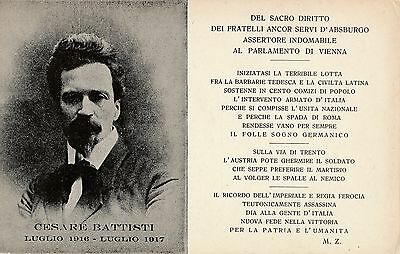 Postcard  Music  Cesare  Battisti