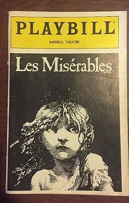 """Playbill, """"Les Miserables"""", Imperial Theater, Broadway, 1991"""