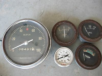 Vtg NIPPON SEIKI Speedometer/Ohio Medical Products/various gauges
