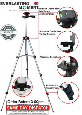 """Tripod Stand for DSLR Camcorder Canon Nikon Sony Pentax *Free Phone Adapter"""""""