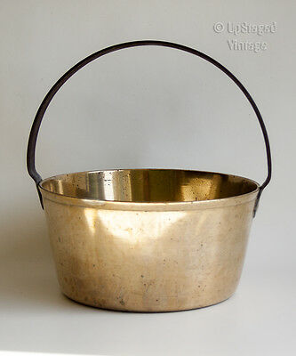Antique Victorian Brass Jam Pan for Stove, Open Fire or Aga Cooker - FREE UK P&P
