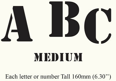 Individual Letter Number Symbols Stencil Template Large 231mm (9.09'') AL1