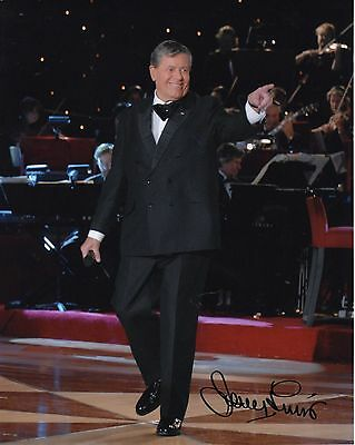 JERRY LEWIS autographed 8x10 color photo     AMAZING POSE FROM MD TELETHON