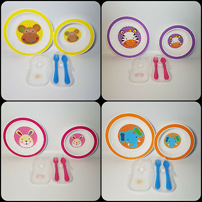jungle pals first steps bowl plate cutlery toddler baby feeding animal child