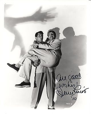 JERRY LEWIS autographed 8x10 photo            BEING HELD BY DEAN MARTIN