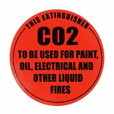 4 X Id Signs For Co2 Extinguisher  Free Postage