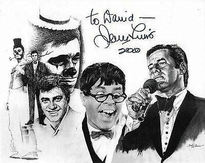 JERRY LEWIS autographed 8x10 photo        AMAZING POSE SIGNED TO DAVID