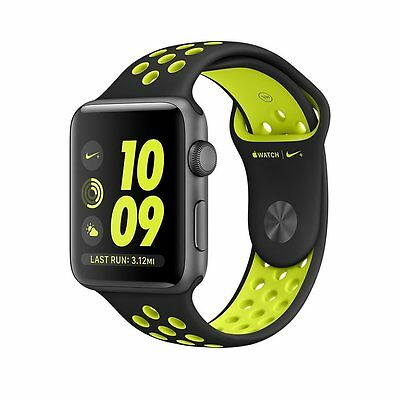 Brand NEW Apple Watch Series 2 Nike + ( 42mm ) Space Grey BLK/VOLT BAND