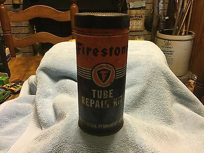 Vintage Firestone Tube Repair Kit with contents