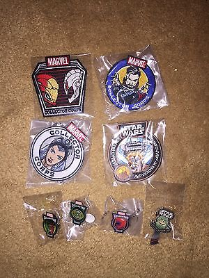 Marvel Collector Corps Patch And Pin Lot