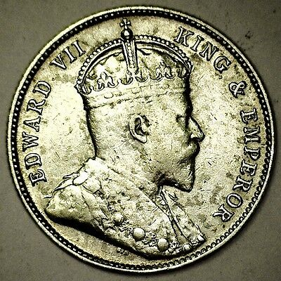 1907 British Honduras 25 Cents - King Edward VII - 1 Of Only 60,000 - KM# 12