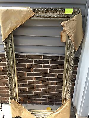 Extra Large Frame Ornate Painting Art 49 X 25 Wall Hanging Antique Look