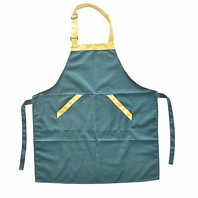 Waterproof Apron Durable&Adjustable for Cooking/Cleaning Both shoulders Green