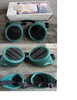Vintage United Brand U.s.a. Welding Goggles