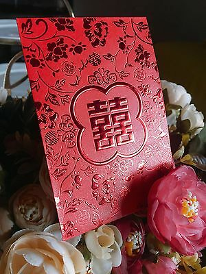 6XSML Double happiness Chinese Wedding Wishing Well Red Pocket /Envelope /Packet
