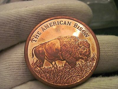 The American Bison The Alamo Copper Round Token