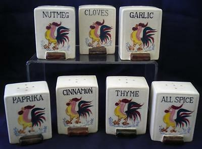 Rooster Spice Containers Japan 7 Vintage