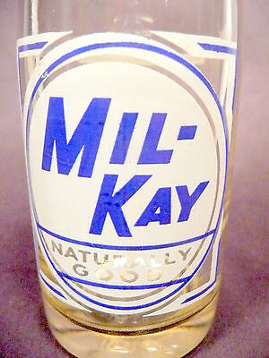 vintage ACL Soda POP  Bottle: MIL-KAY of PITTSBURGH, PA  - 7 OZ  ACL - style #2