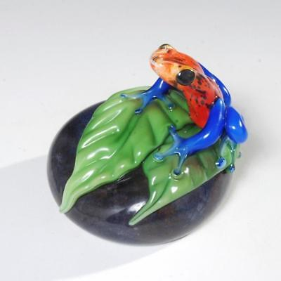 Orient & Flume Glass Poison Frog On A Rock By David Smallhouse Ed. 182/350