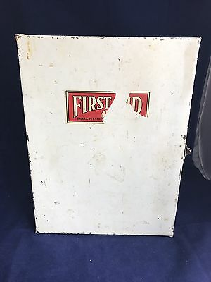 VINTAGE SANAX FIRST AID KIT Tin METAL Case  COLLECTABLE Medical WITH CONTENTS