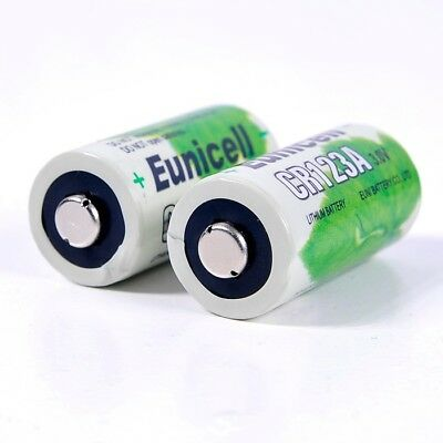 2 x EUNICELL CR123A CR123 CR17345 LITHIUM 3V BATTERY camera flashlight batteries