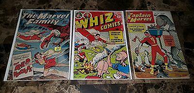 Captain Marvel Lot ==> Whiz Comics #141, Marvel Family #78, Capt Marvel #123