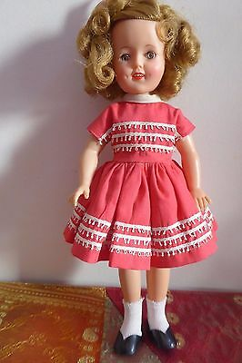 Vintage 50's /60's  12 Inch Ideal Shirley Temple Doll Vinyl Orig Clothes / Shoes