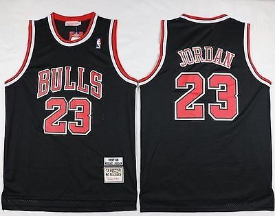 NBA Michael Jordan #23 Chicago Bulls RETRO black swingman jersey - S/M/L