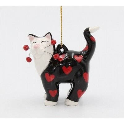 ✜ WHIMSICLAY CAT Kitten Ornament Collection Hearts