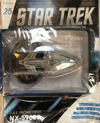 STAR TREK Official Starships Magazine #25 U.S.S. Prometheus NX Eaglemoss engl.