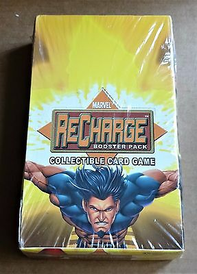 MARVEL RECHARGE CCG NEW FACTORY SEALED BOX OF 36 x BOOSTER PACKS  DATED 2001