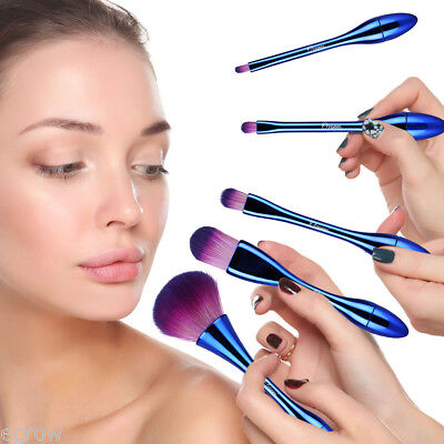 MAKE UP 5 PEZZI PENNELLI TRUCCO COSMETICA SET BRUSH Spazzole Ombretto Fard etc