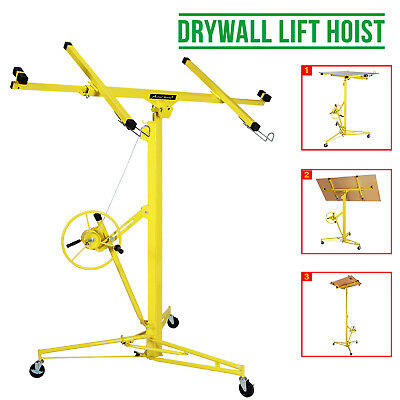 Heavy Duty 16FT Lift/Lifter Tool Drywall Hoist Caster Plaster Board Panel Sheet
