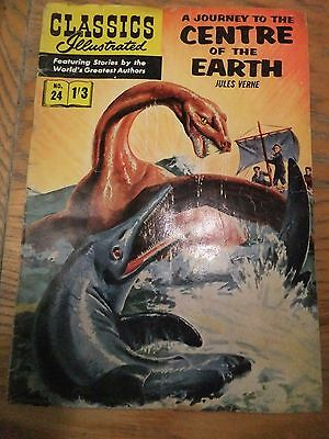 CLASSICS ILLUSTRATED COMIC No. 24 Journey to the Centre of the Earth -original