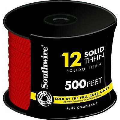 Single Conductor Electrical Wire Southwire 500 ft. 12 Red Solid THHN THWN Wire