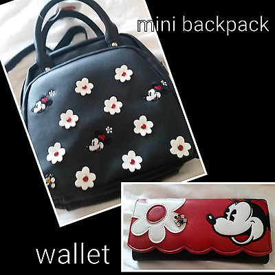 Minnie Mouse backpack and WALLET SHANGHAI DISNEYLAND DISNEY PARK STORE