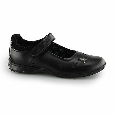 Hush Puppies CLARE JNR Girls Leather Touch Close Mary Jane School Shoes Black