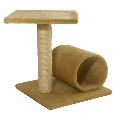 James & Steel Stafford Cat Scratching Post Platform & Tunnel