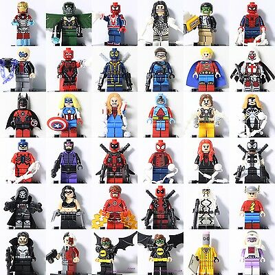 2017 All Superheroes Marvel Spiderman Ironman Batman Minifigure Fits Lego