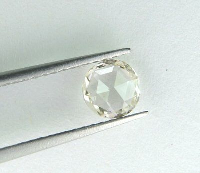 1.25 ct 7.25 mm VVS1 Off White Yellow Rose Cut Loose Moissanite GBP