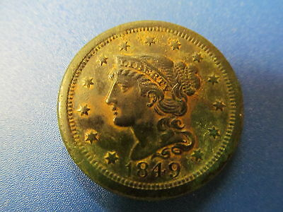 1849  Large Cent  - Circulated Coin -  Very Nice  Detail Remains!!!
