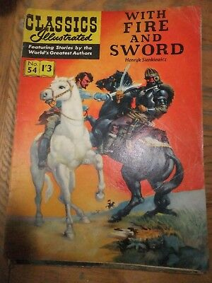 CLASSICS ILLUSTRATED COMIC No. 54 WITH FIRE AND SWORD-original